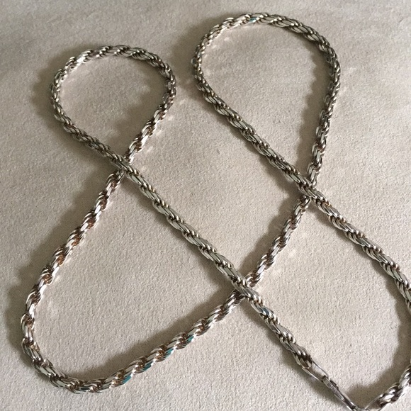 Italian Sterling Jewelry - HEAVY Italian Sterling Rope Chain